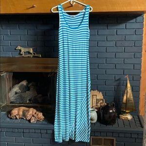 Size 6 Calvin Klein striped maxi dress